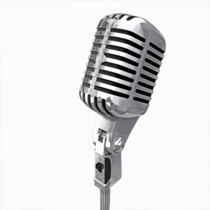 old microphone isolated